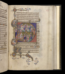 Historiated Initials To Terce With Scenes From The Life Of Christ, In The Egerton Bohun Psalter-Hours